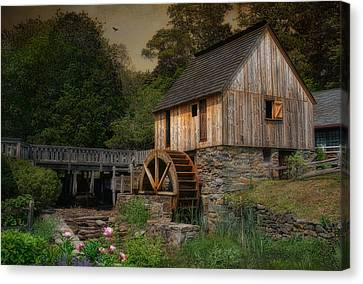Corn Meal Mill Canvas Print by Robin-Lee Vieira