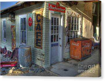 Corner Cafe Randsburg California Canvas Print