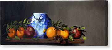Canvas Print featuring the painting Cornucopia by Barry Williamson