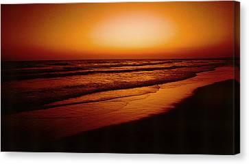 Corona Del Mar Canvas Print by Mark Greenberg