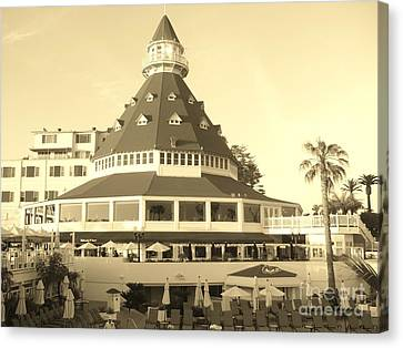 Canvas Print featuring the photograph Coronado Hotel by Jasna Gopic