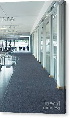 Corridor In A Modern Office Canvas Print by Iain Sarjeant