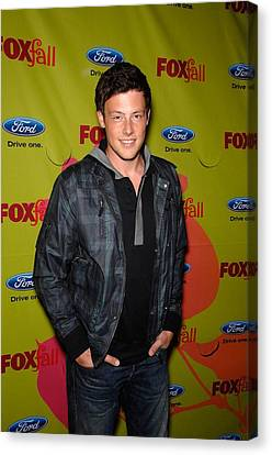 Windbreaker Canvas Print - Cory Monteith At Arrivals For Fox Fall by Everett