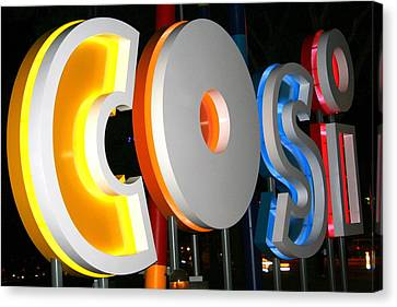 Cosi In Neon Lights Canvas Print by Laurel Talabere