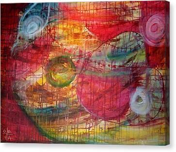 Cosmic Eggs Canvas Print by Oriya Rae