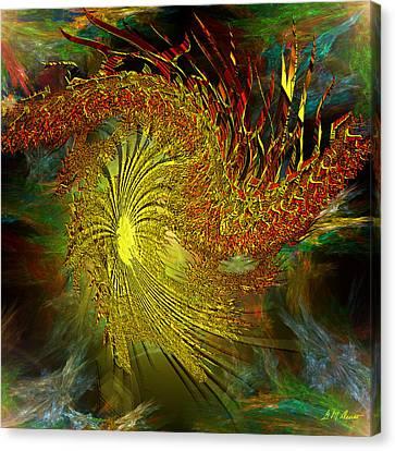 Algorithm Canvas Print - Cosmic Pinwheel by Michael Durst