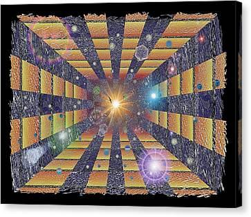 Cosmic Queue Canvas Print by Tim Allen