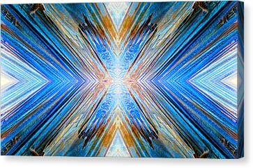 Canvas Print featuring the photograph Cosmic Rays by Sandro Rossi
