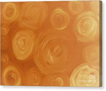 Cosmic Swirls Beige Canvas Print by Jeannie Atwater Jordan Allen