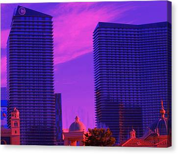Canvas Print featuring the photograph Cosmopolitan Sunset by Linda Edgecomb