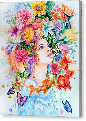 Cosmos Canvas Print by Callie Fink