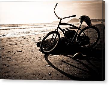 Jaco Canvas Print - Costa Rican Beach Cruiser by Anthony Doudt