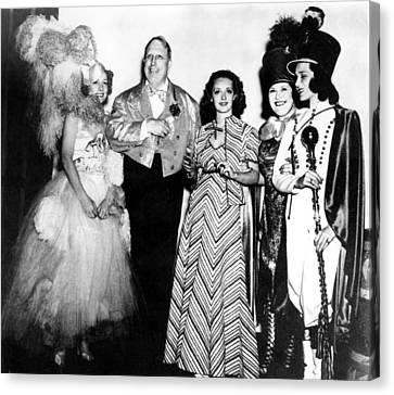 Costume Party At San Simeon. Irene Canvas Print by Everett