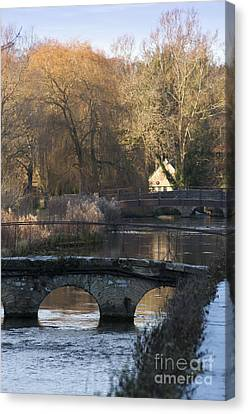 Cotswold River Scene Canvas Print