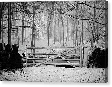 Gate Canvas Print - Cotswolds Winter by Andrew Lockie