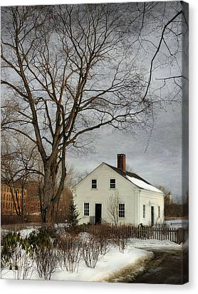 Cottage By The Mill Canvas Print by Robin-Lee Vieira