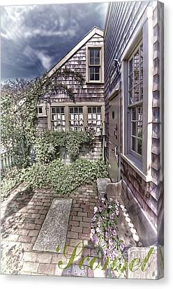 Canvas Print featuring the photograph Cottage Garden - 'sconset Nantucket by Jack Torcello