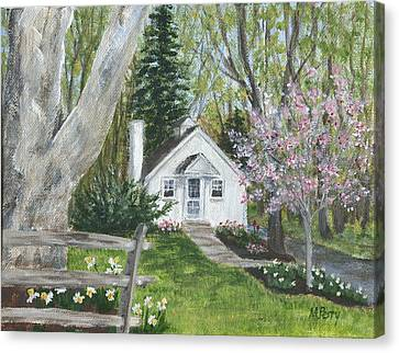 Cottage In Spring Canvas Print