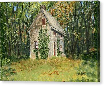 Cottage In The Woods At Fonthill Canvas Print