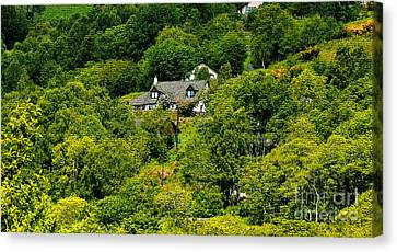 Cottage In The Woods Canvas Print by Pravine Chester