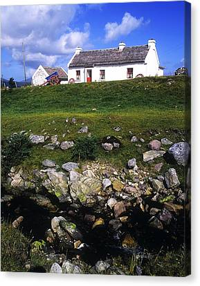 Cottage On Achill Island, County Mayo Canvas Print by The Irish Image Collection