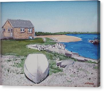 Cottage On The Marsh Canvas Print
