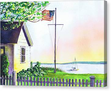 Cottage Orient Ny Canvas Print