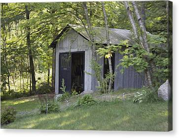 Cottage Shed Canvas Print by Michel DesRoches