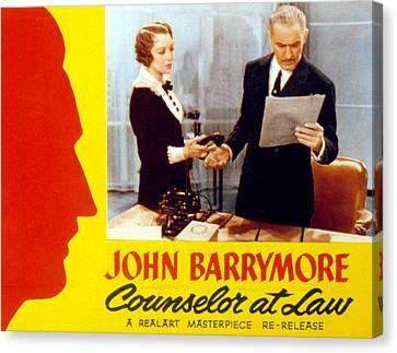 Counsellor At Law, Bebe Daniels, John Canvas Print