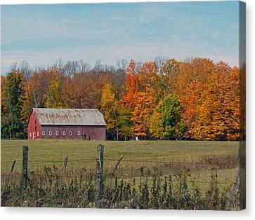 Country Barn Canvas Print by Christine Hafeman