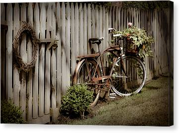 Canvas Print featuring the photograph Country Bike by Michelle Joseph-Long