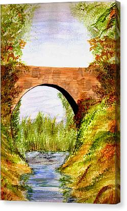 Country Bridge Canvas Print