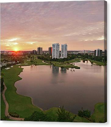 Country Club At Sunset Canvas Print by Elido Turco Photographer