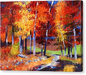 Country Club Fall Plein Air Canvas Print by David Lloyd Glover