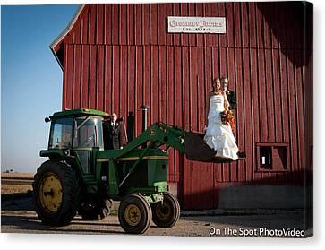 Country Farm Wedding Canvas Print by Sidney Dumas
