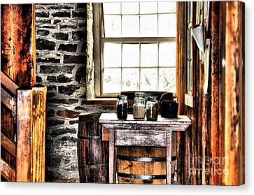 Country Jars Canvas Print by Elaine Manley
