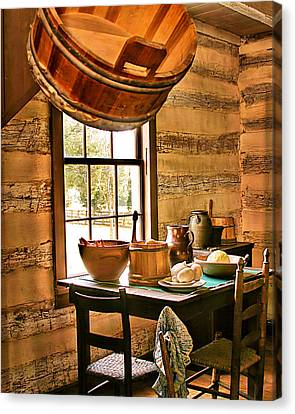 Canvas Print featuring the digital art Country Kitchen by Mary Almond