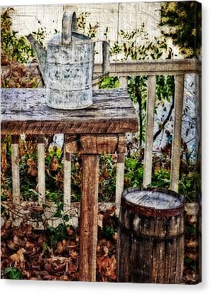 Country Porch Canvas Print by Kathy Jennings