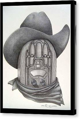 Country Radio Canvas Print by Diana Lehr