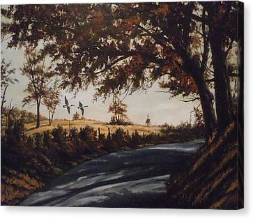 Canvas Print featuring the painting Country Road by James Guentner
