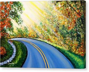 Country Road Canvas Print by Usha Rai