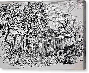 Country Shack Canvas Print by Bill Joseph  Markowski
