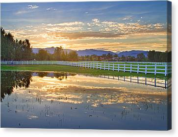 Country Sunset Reflection Canvas Print by James BO  Insogna