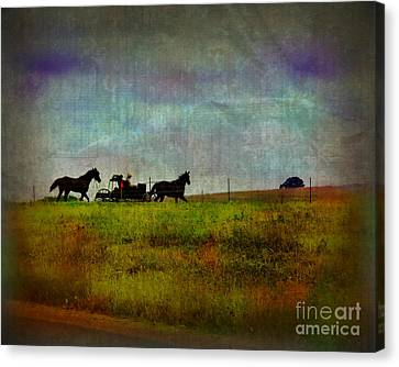 Country Wagon 2 Canvas Print by Perry Webster