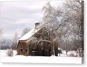 Country Winter Canvas Print by Monica Lewis