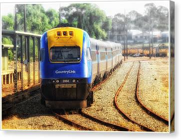 Canvas Print featuring the digital art Countrylink Taree 01 by Kevin Chippindall