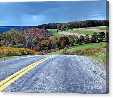 Canvas Print featuring the photograph County Road by Christian Mattison