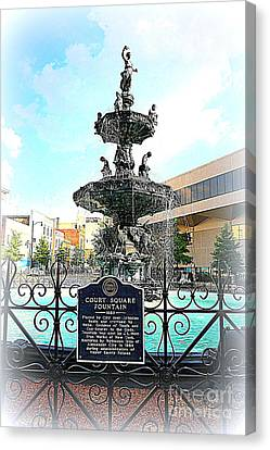 Court Square Fountain Canvas Print by Carol Groenen