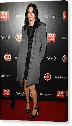 Courteney Cox At Arrivals For Tv Guides Canvas Print by Everett