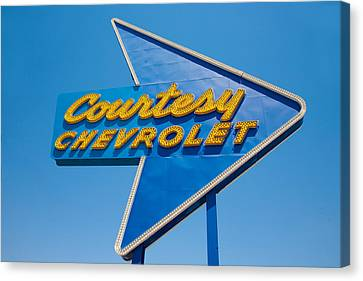 Courtesy Chevrolet Canvas Print by Matthew Bamberg